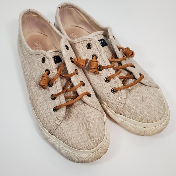 Sperrys  cream sneakers